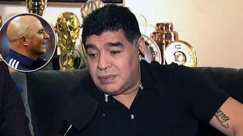 Diego Maradona, durísimo con el corcho Jorge Sampaoli: Es un falso