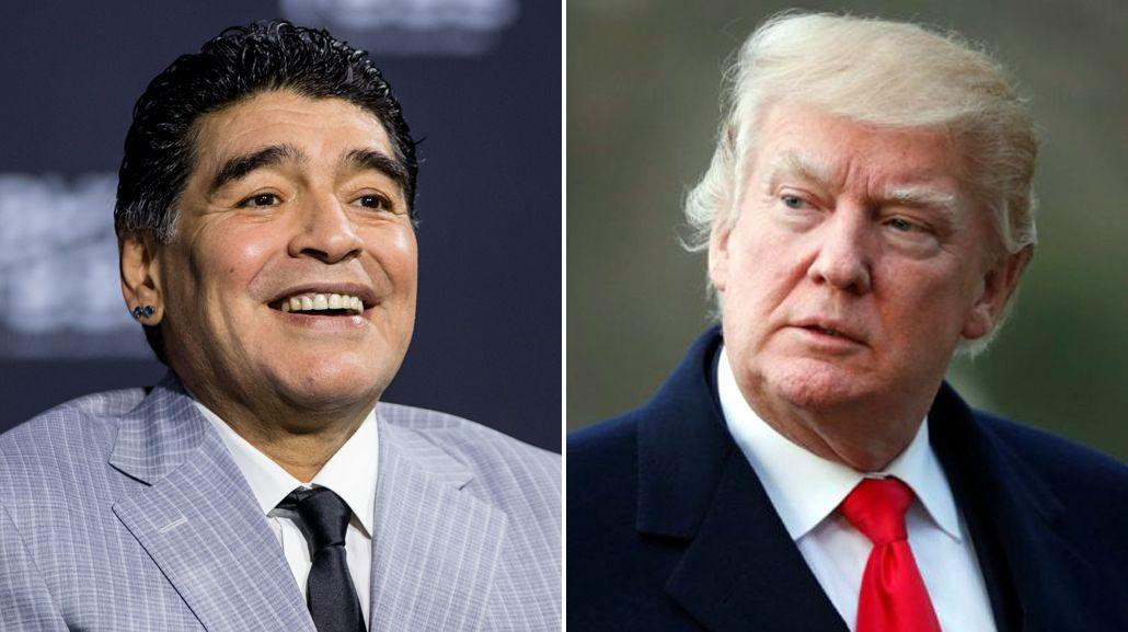 Maradona sobre Donald Trump: Quiero conocer a Jordan pero no me dan la visa