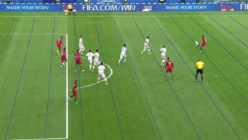 Cuatro portugueses estaban en posición adelantada