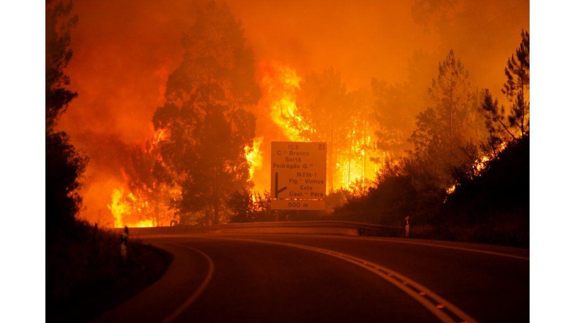 Incendio en el centro de Portugal