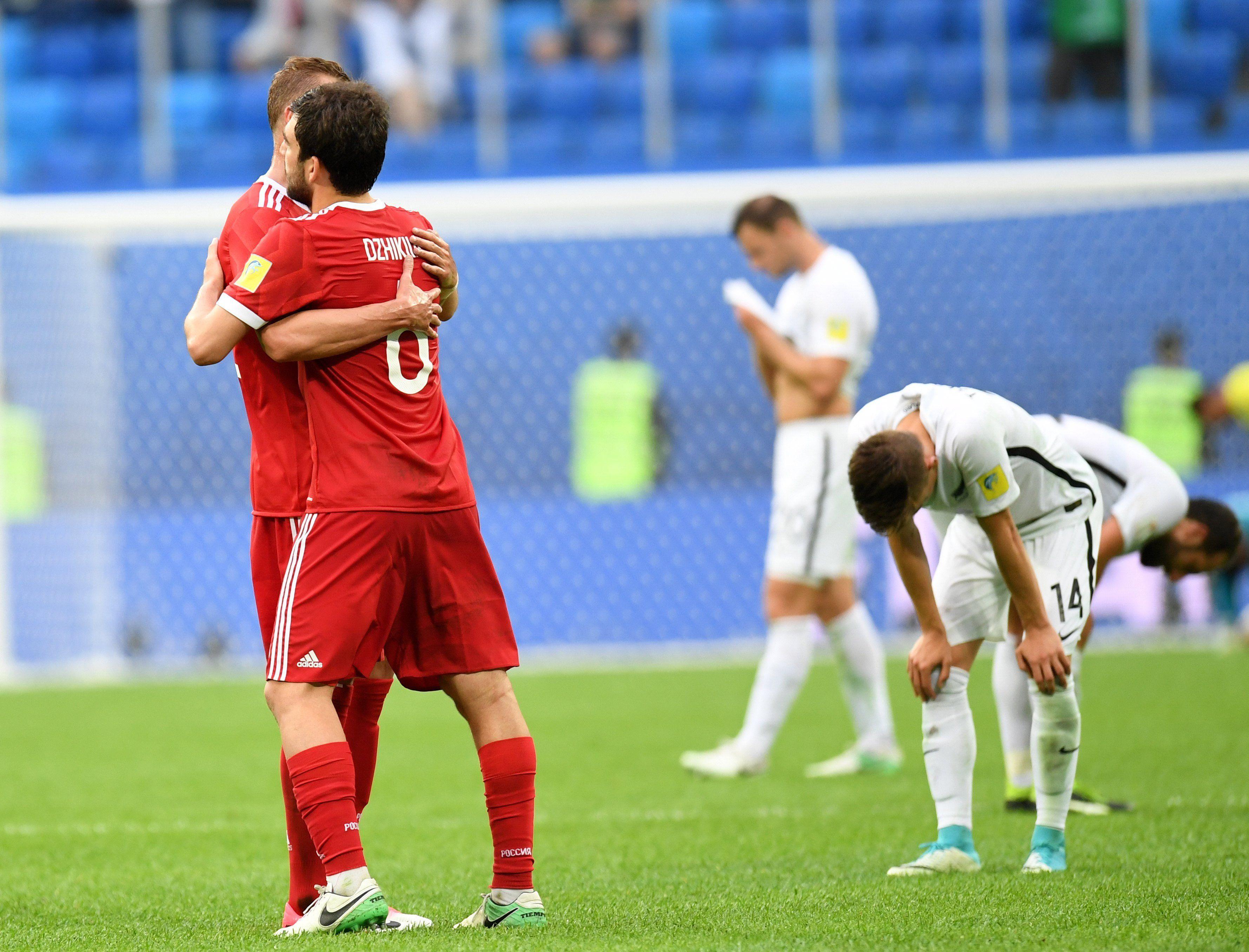 Rusia venció a Nueva Zelanda en el inicio de la Copa Confederaciones