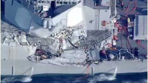 Un destructor de Estados Unidos chocó con un carguero filipino cerca de la costa de Japón