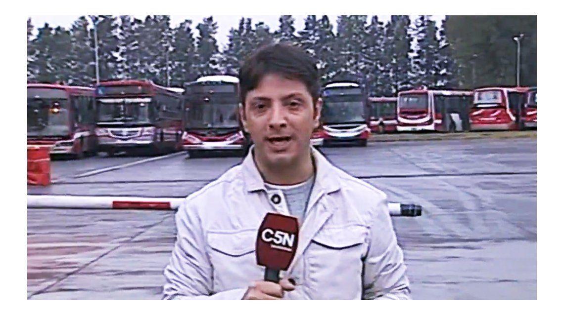 El cronista fue amenazado en una entrevista en vivo