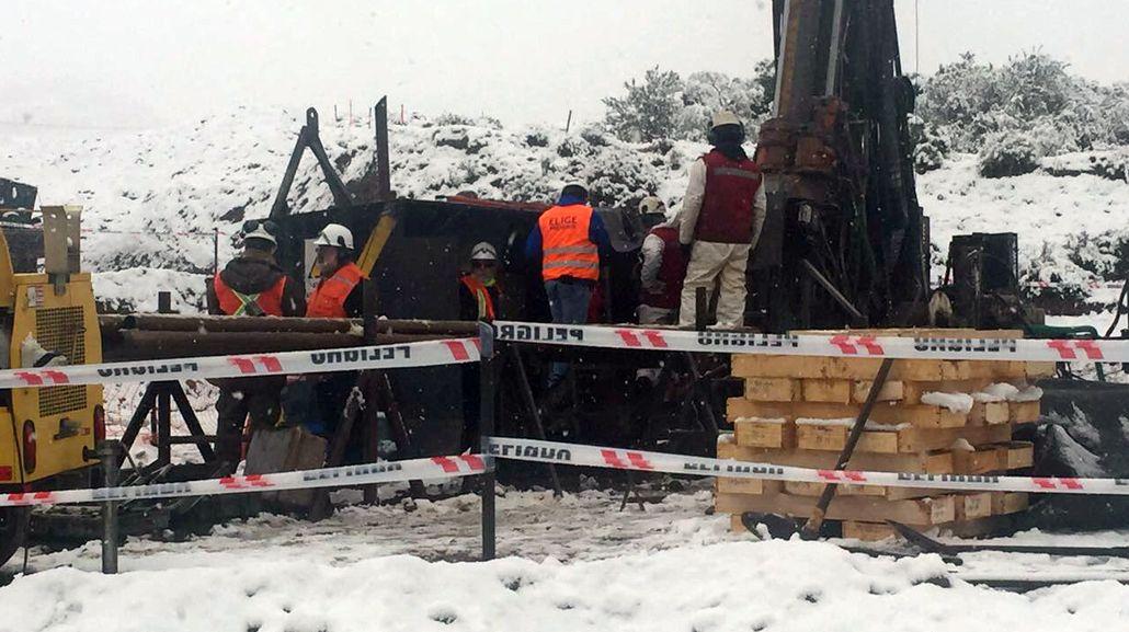 Los mineros están atrapados desde hace una semana. Gentileza: Ministerio de Minería de Chile