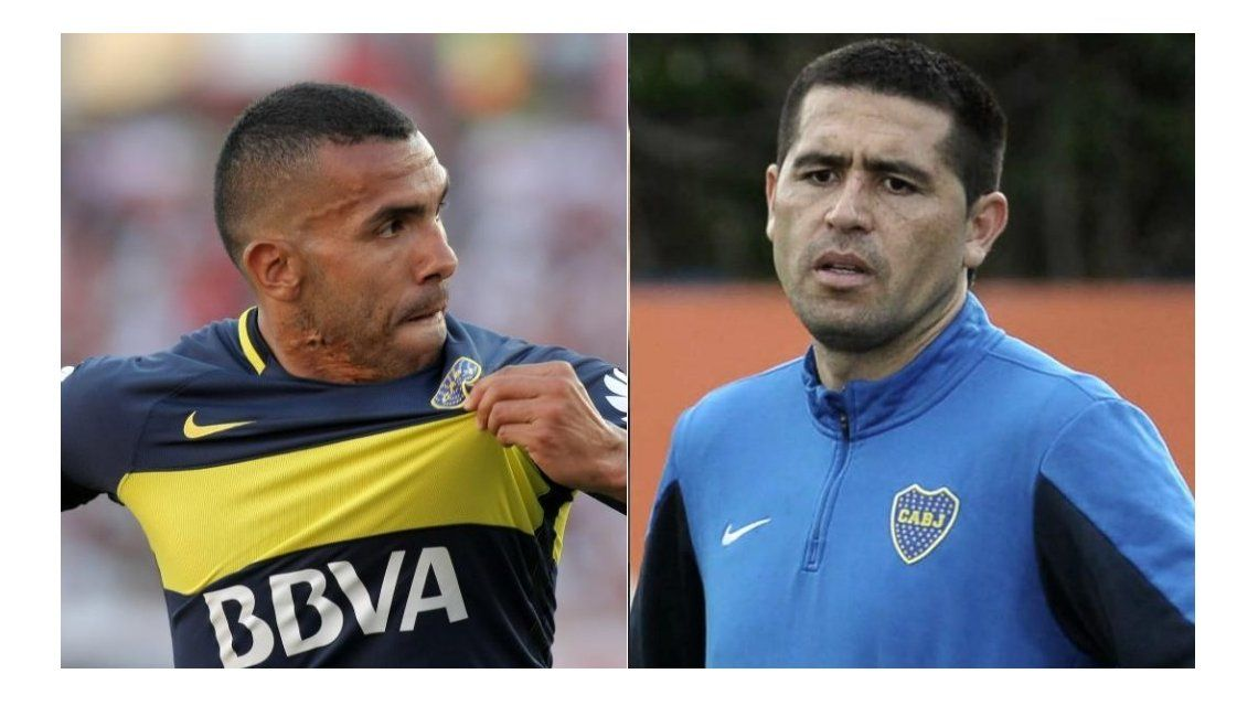 El ping pong de Boca: los palos entre Tevez y Riquelme