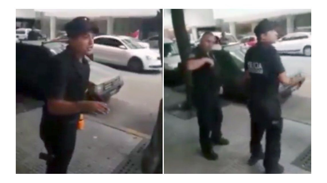 El policía que echó al trapito de la cuadra