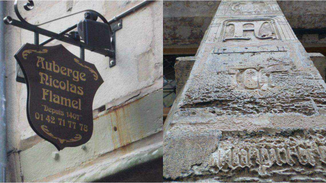Algunos detalles nuevos y viejos de la fachada de la casa de Flamel