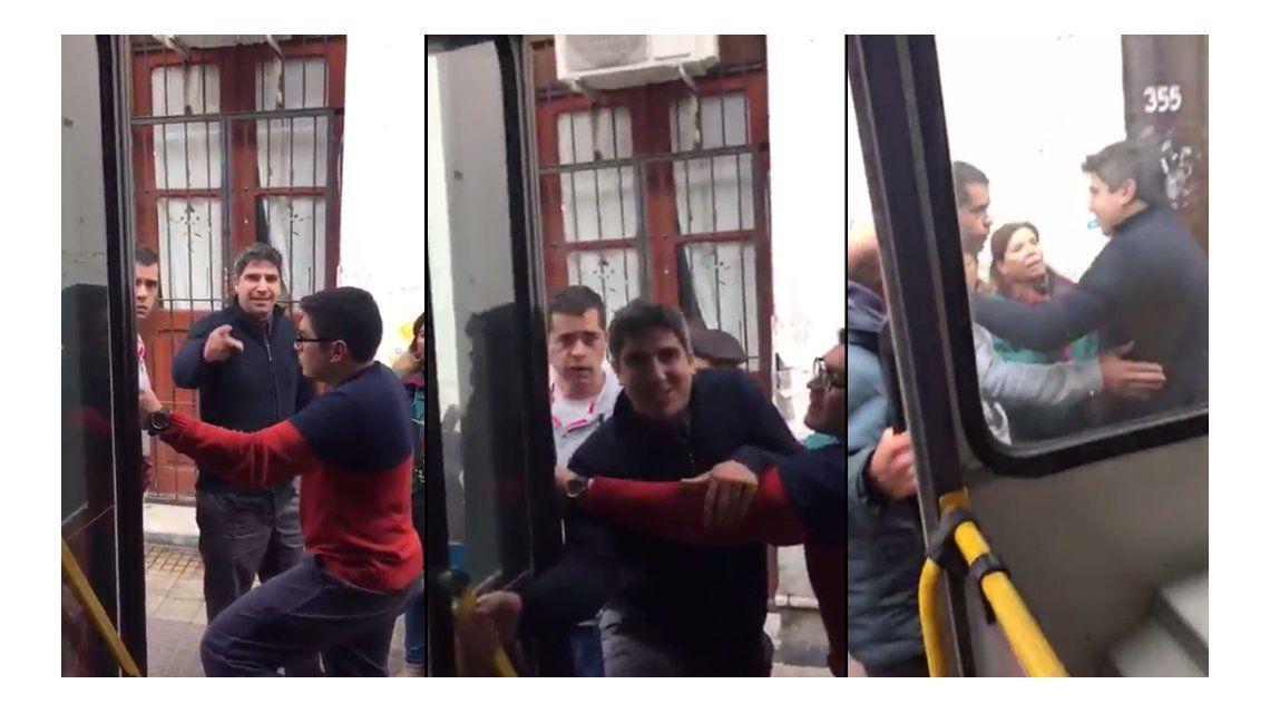 Brutal pelea entre un colectivero y un remisero por un choque