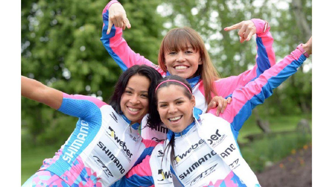 Marlies se divierte con las colombianas Parrado y Meneses. El Ladies Power tiene como meta tener a los mejores proyectos y desarrollarlos. (Jim Gavenus)