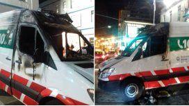 La ambulancia estaba cerrada y sin ocupantes