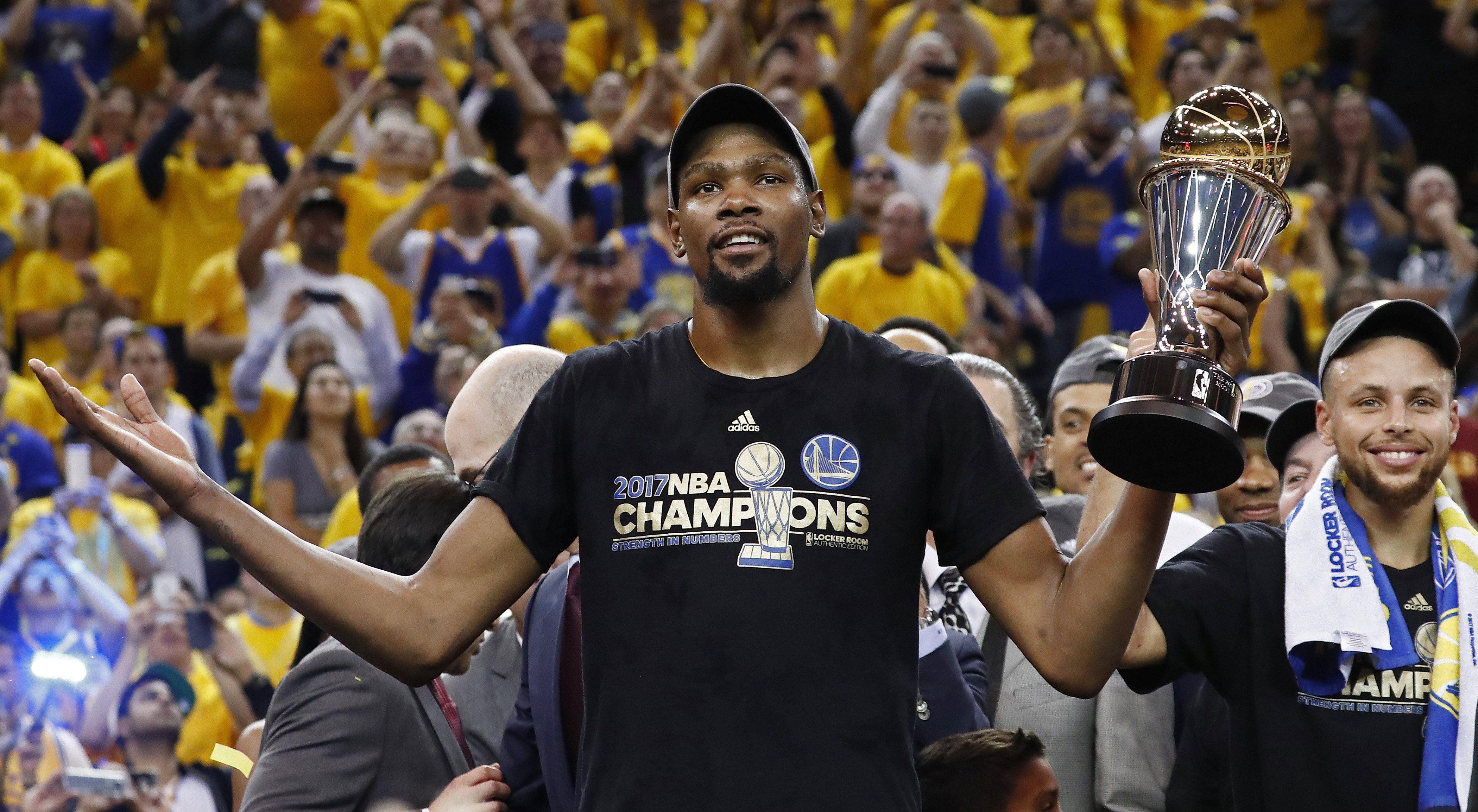 Kevin Durant fue elegido MVP de las finales