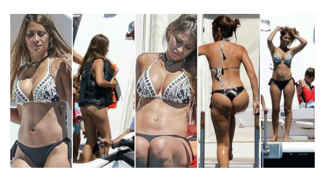 Antonella Roccuzzo lució sus increíbles curvas en Ibiza