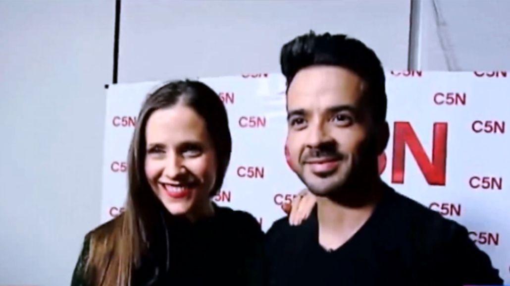 Luis Fonsi y Julieta Camaño
