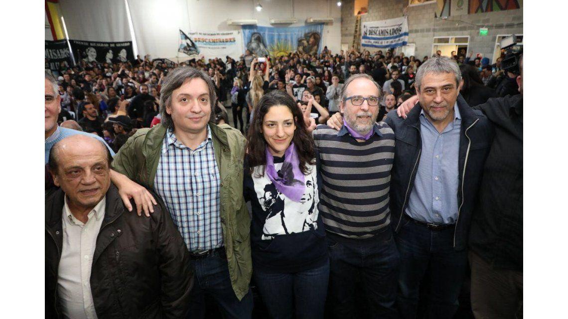 Máximo en el V Congreso Nacional de la Corriente Peronista Descamisados.