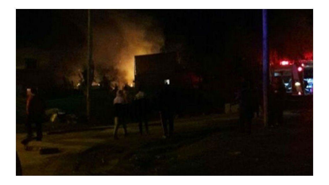 Así se prendió fuego la vivienda
