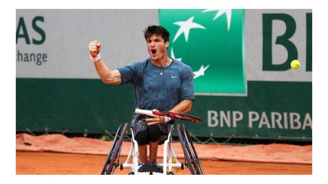Gustavo Fernández en la final de la Roland Garros
