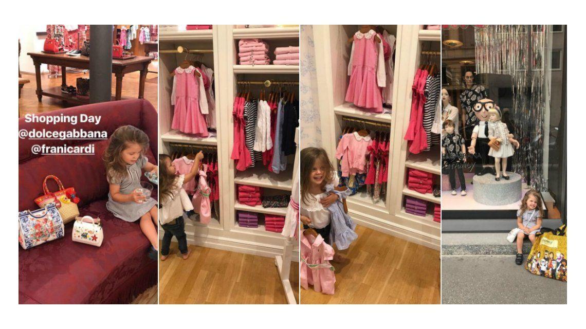 Wanda llevó a Francesca de compras ¡y gastó más de 30 mil pesos!
