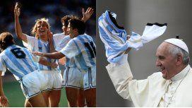 El papa Francisco le agradeció a Caniggia su gol a Brasil en Italia 90