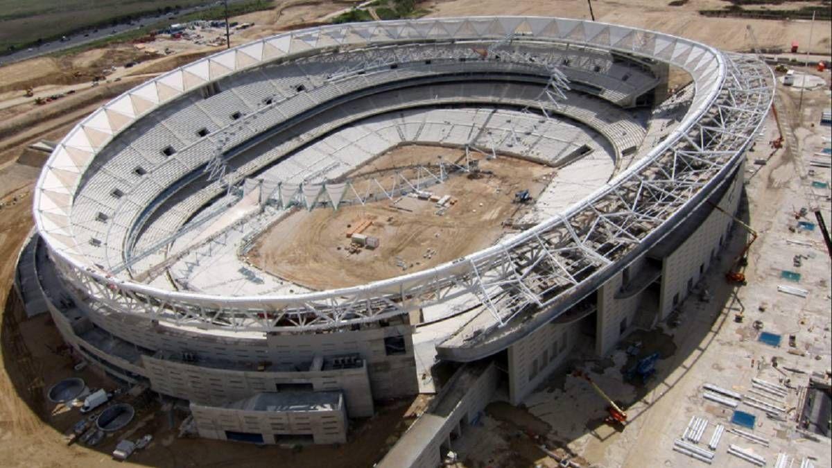 El Atlético de Madrid construye su nuevo estadio