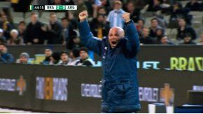 Sampaoli festejó el gol de Argentina ante Brasil