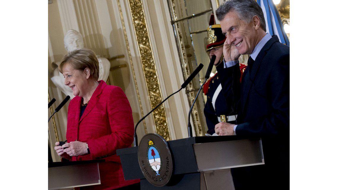 El presidente Mauricio Macri y la canciller de Alemania
