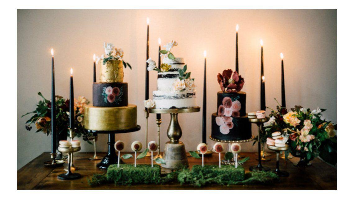 Una mesa de dulces muy distinta a los postres tradicionales