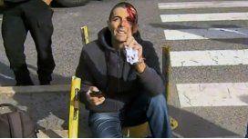 Delgado, tras el accidente
