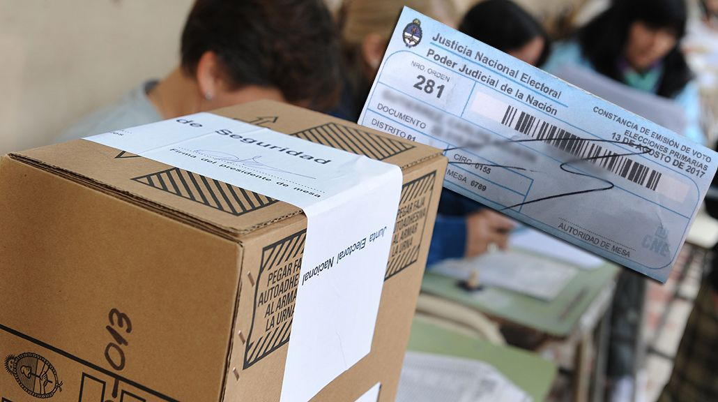 Elecciones PASO 2017: ¿qué hacer con la constancia de voto?