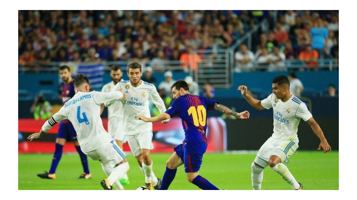 Supercopa de España: Real Madrid le ganó al Barcelona en el partido de ida
