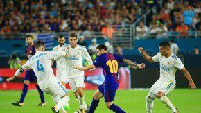 supercopa de espana: real madrid le gano al barcelona en el partido de ida