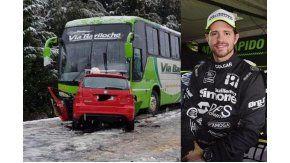 El piloto de TC Mauro Giallombardo se accidentó en la ruta 40 La Angostura-Barioche