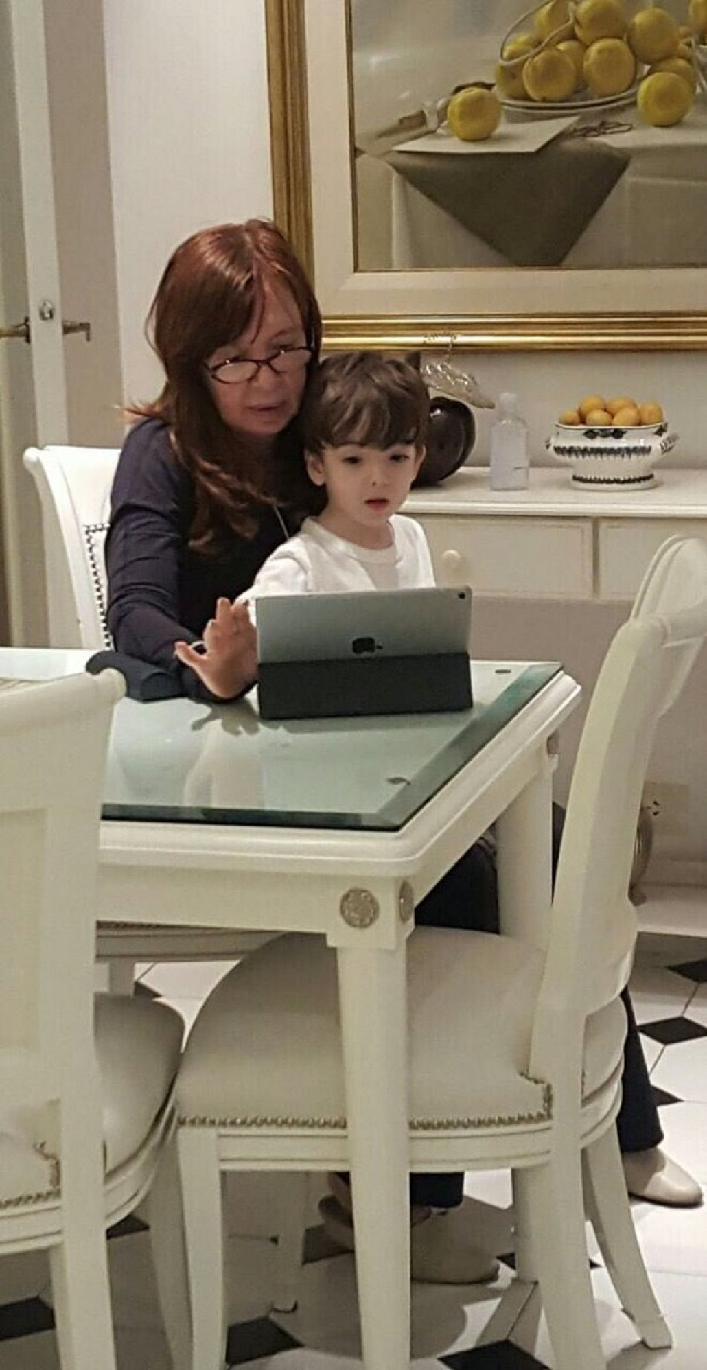 El chiste de Cristina con su nieto Néstor Iván sobre las PASO