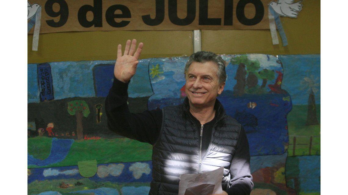Macri votó en Palermo (Foto: Ignacio Petunchi)