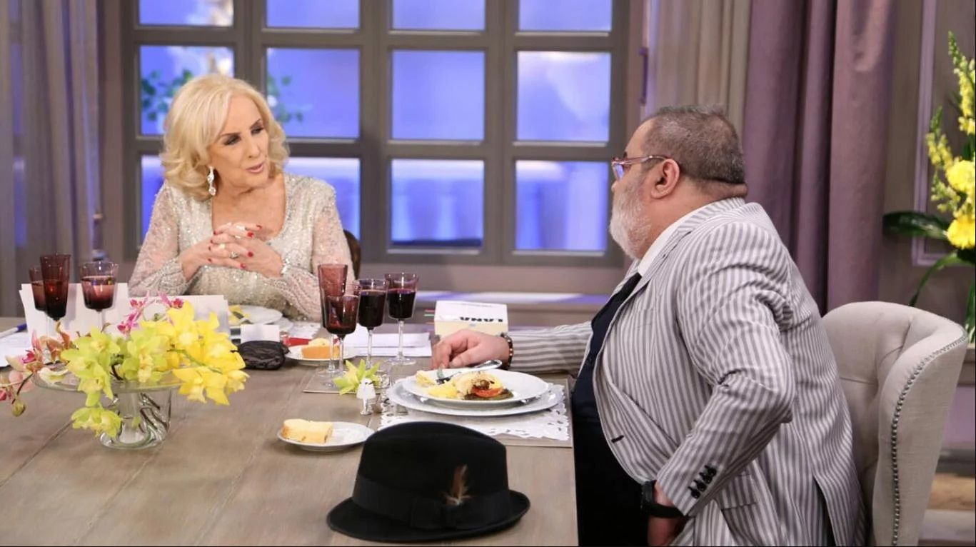 Lanata con Mirtha Legrand