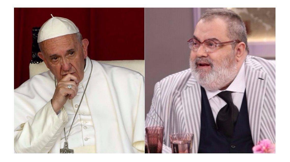 Lanata cruzó al papa Francisco