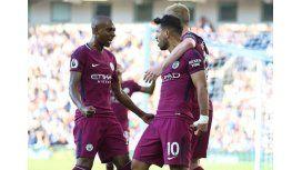 Agüero marcó en la victoria de Manchester City
