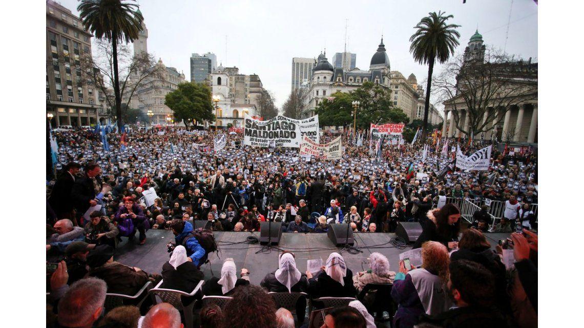 Multitudinaria marcha por la aparición de Maldonado