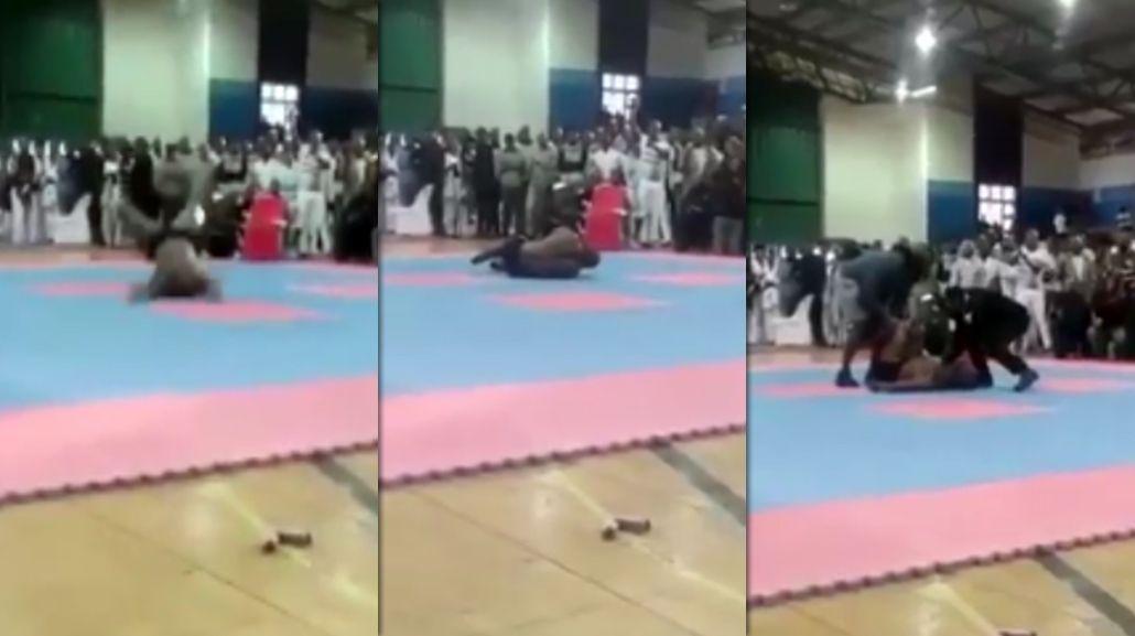 VIDEO: Un fisicoculturista quiso hacer una pirueta y murió en el acto
