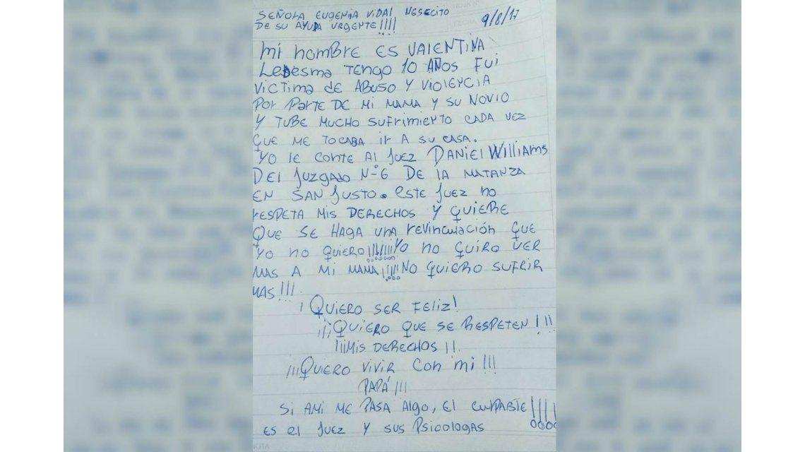 El desesperado pedido de una nena: No quiero ver más a mi mamá