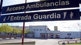 La mujer murió camino al hospital