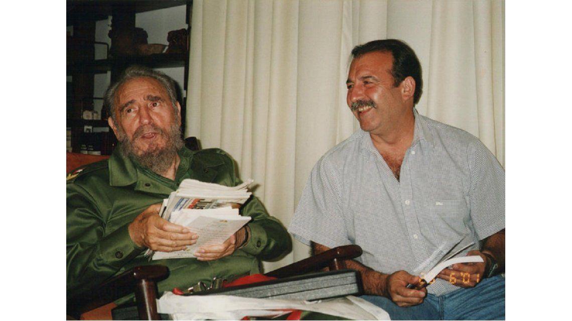 Patricio Echegaray con Fidel Castro