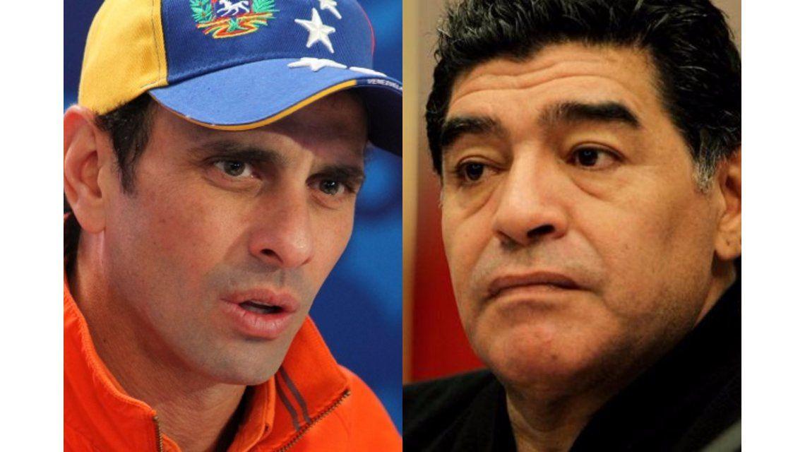 Capriles les contestó a Maradona