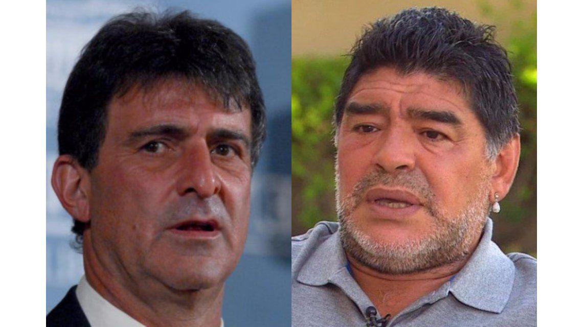Mario Kempes y Diego Maradona
