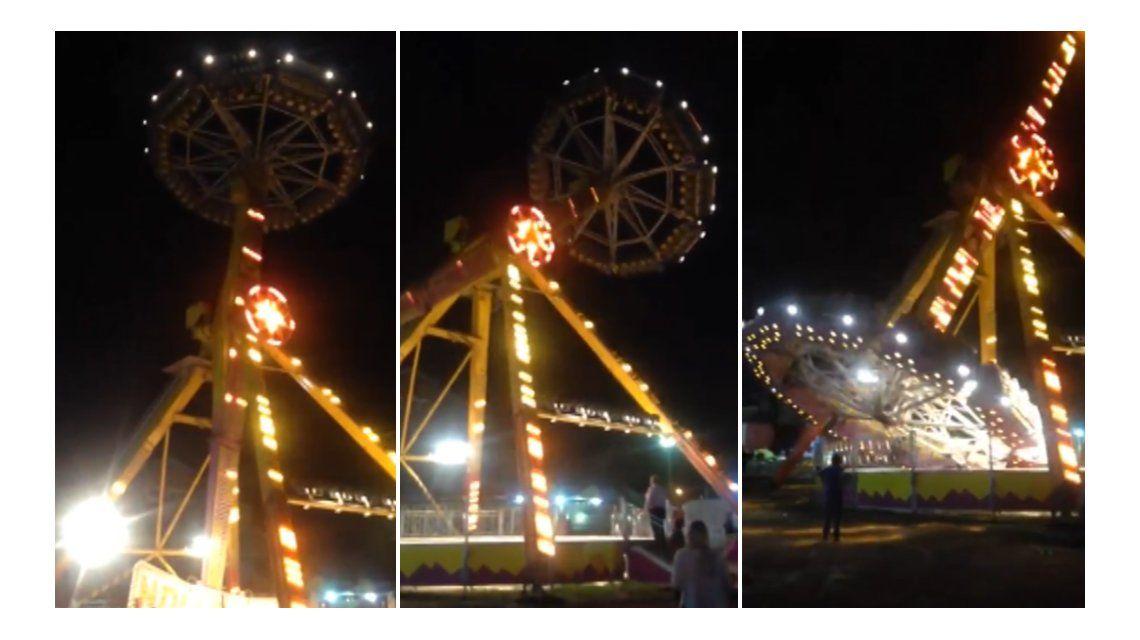 Pánico en un parque de diversiones de Tucumán por la falla en un juego