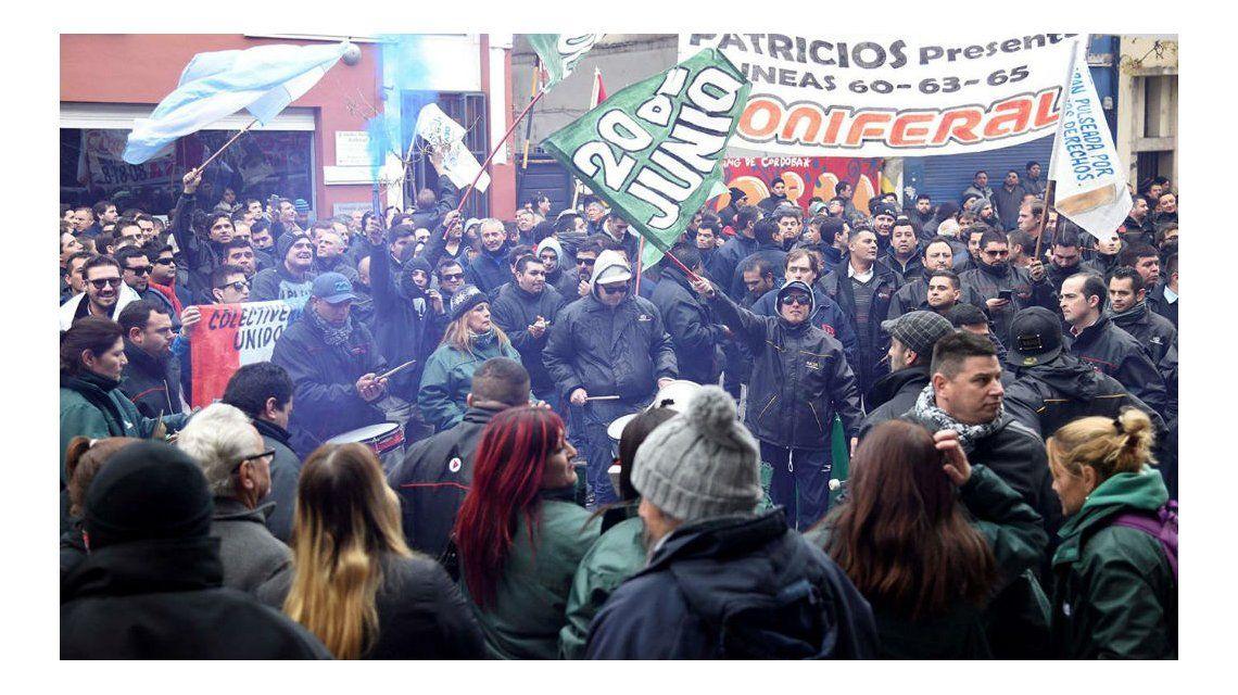 Una de las manifestaciones durante la protesta de los choferes en Córdoba