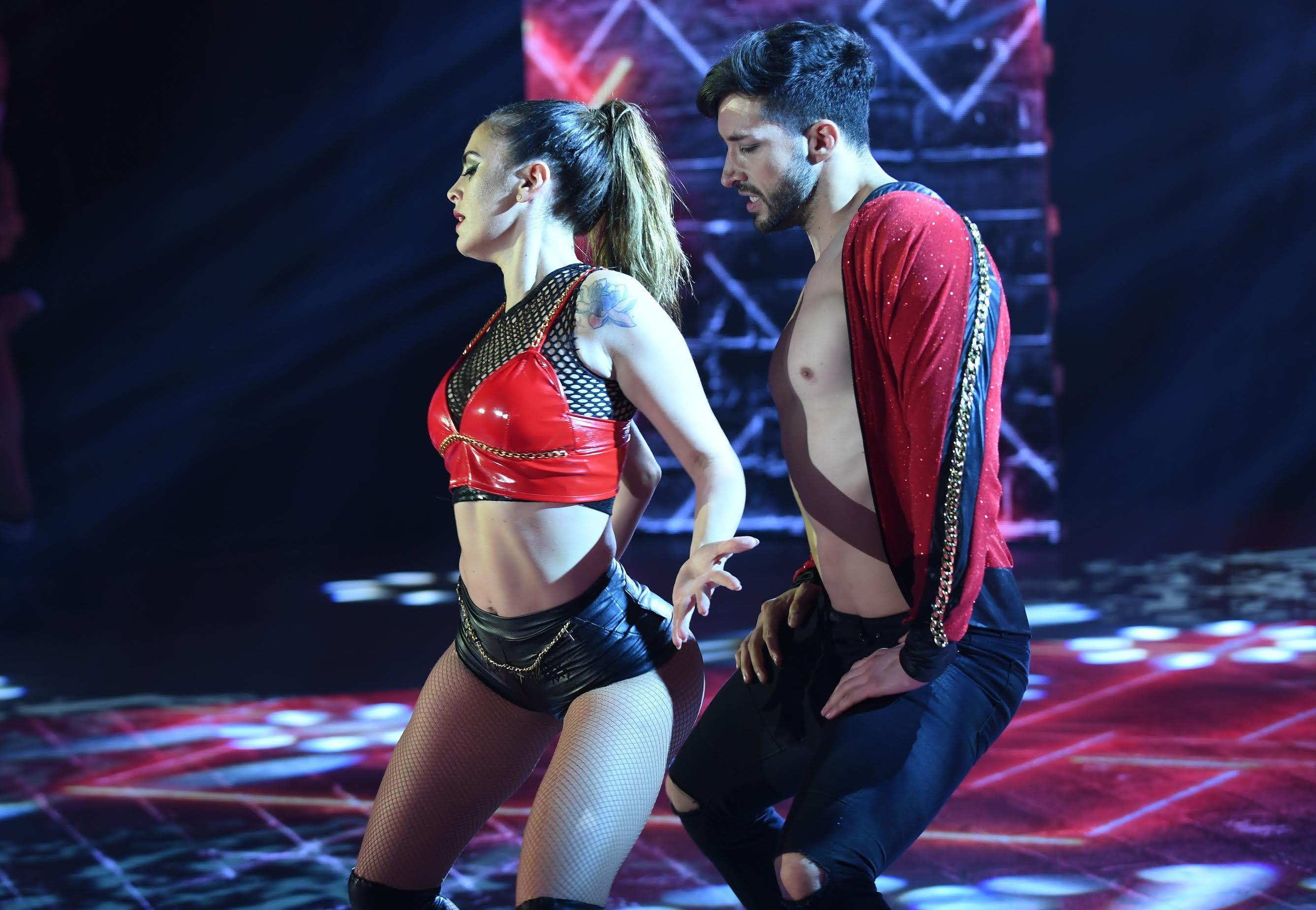 Silvina Luna con Leandro Nimo bailaron reggaetón romántico