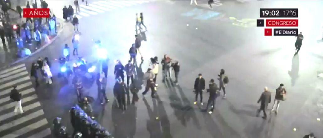 Incidentes frente al Congreso en la protesta por la desaparición de Maldonado