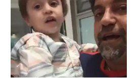 La respuesta del hijo de Caruso Lombardi en medio de un video para Tigre