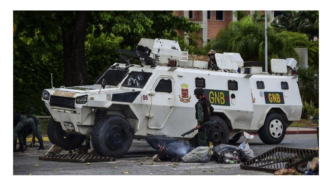 El gobierno publicó un video que muestra el presunto sublevamiento militar