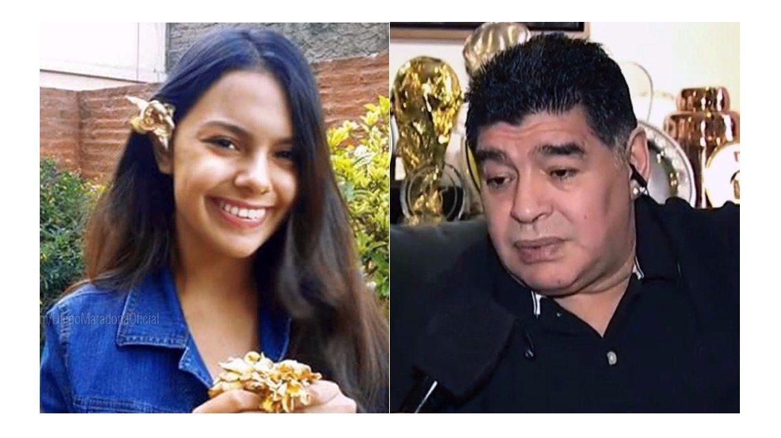 Maradona expresó su dolor por la muerte de Anahí Benítez